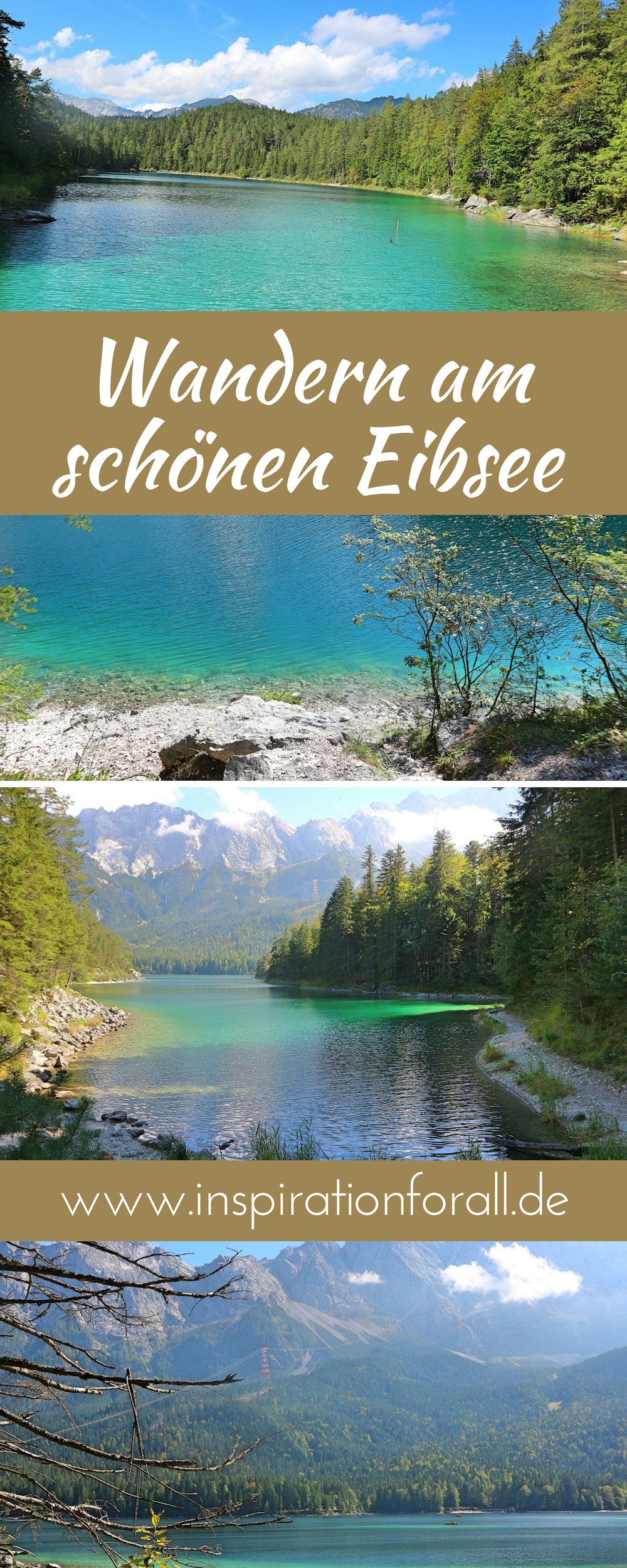 Der Eibsee ist einer der schönsten Seen in den Alpen. Die Landschaft am See ist atemberaubend. Es lohnt sich rund um den See zu wandern – ob im Sommer oder Herbst. Ich gebe dir Tipps für dieses traumhafte Ausflugsziel in Bayern und zeige viele Natur Bilder von meiner Wanderung. #eibsee #wandern #bayern #see #wanderlust