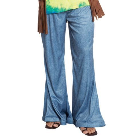 Adult Blue Bell Bottom Jeans 19 99 Party City Halloween