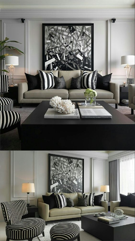 Decorate your home with style find our biggest decor inspiration selection of bedroom living room dining trends bathroom also elegance in black white  silver kelly hoppen interiors color rh pinterest