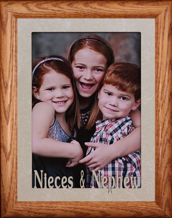 5x7 Jumbo Nieces Nephew Photo Frame Holds A 5x7 Photo