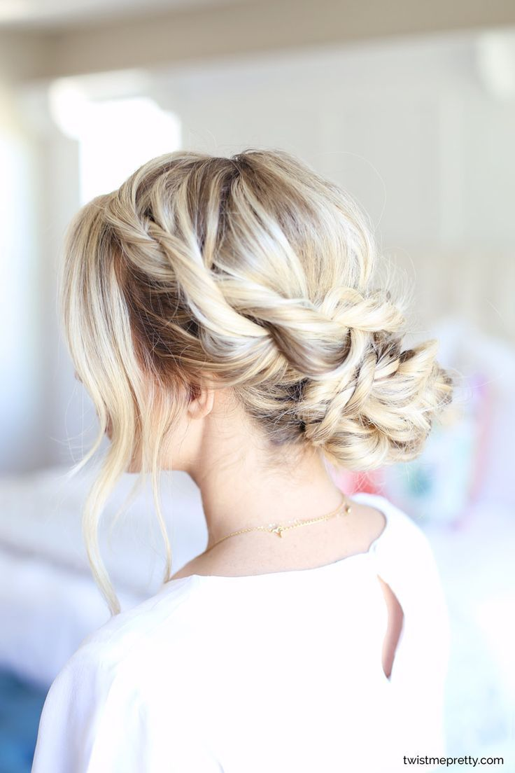 Easy homecoming updo twisted hairstyle twist me pretty medium