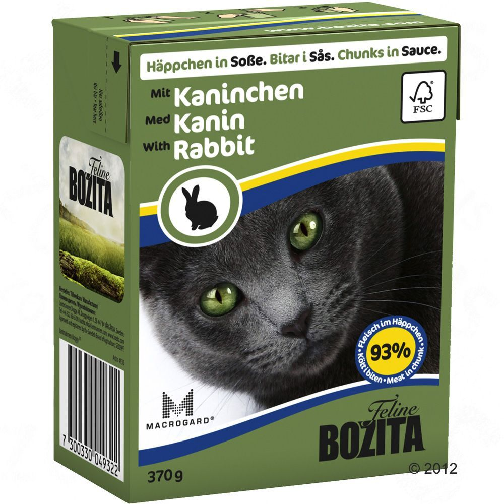 Animalerie Bozita Bouchees En Sauce 6 X 370 G Pour Chat Poulet Dinde Chat Lapin Animalerie Chat