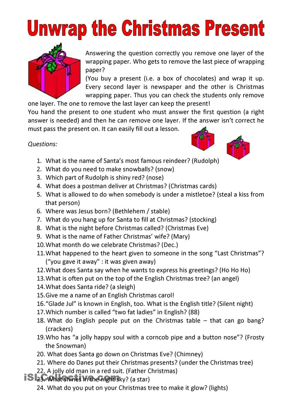 Unwrap the Christmas Present | Christmas Lessons | Pinterest ...