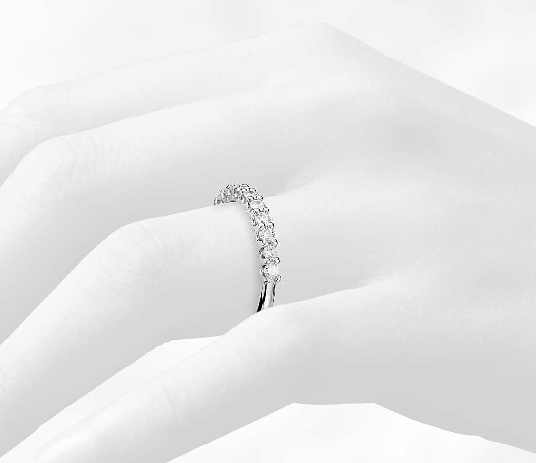Luna Diamond Wedding Ring In Platinum 1 2 Ct Tw Blue Nile Diamond Wedding Rings Wedding Rings Diamond Wedding