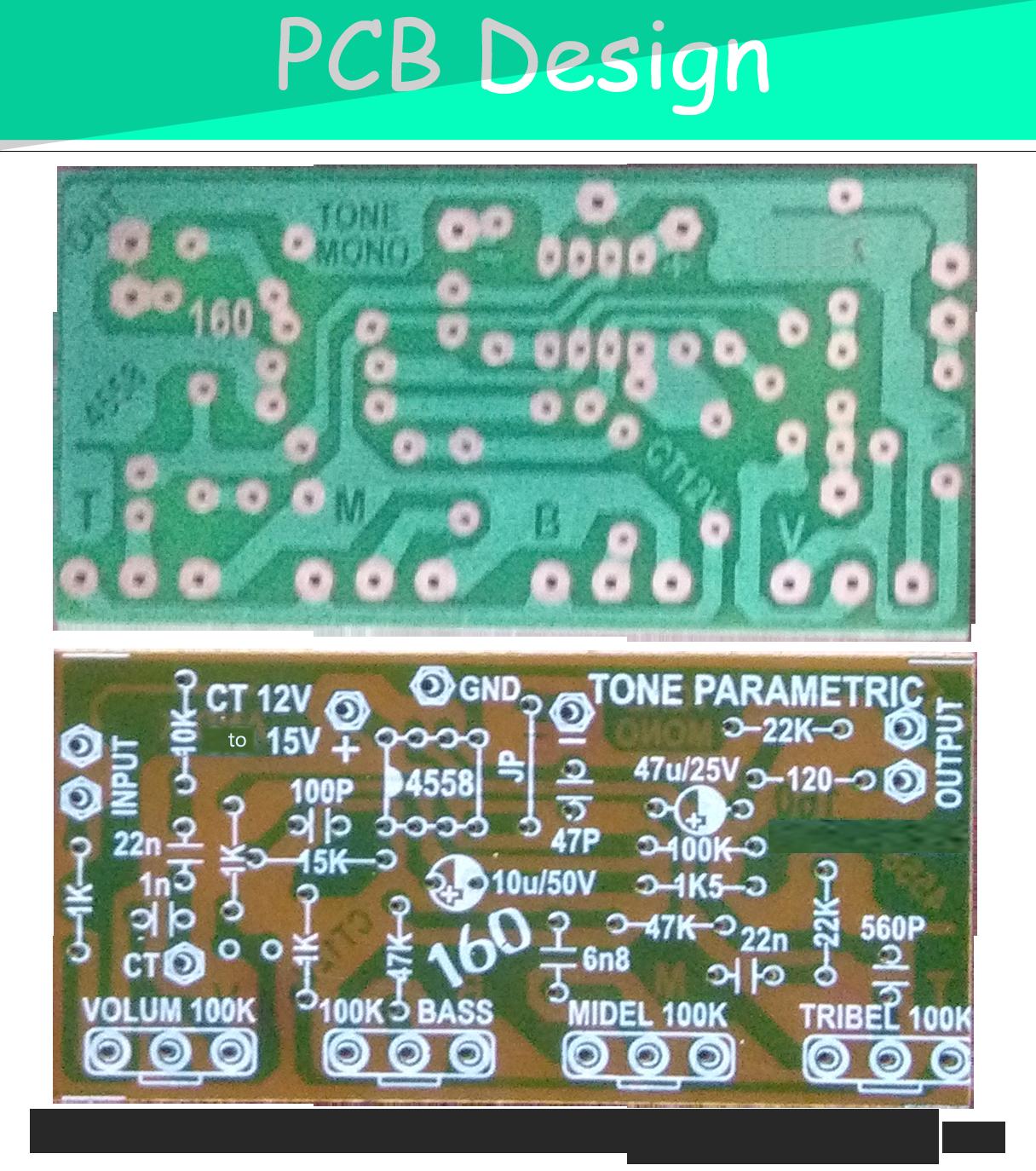 esp ltd wiring diagrams starfish reproductive system diagram parametric tone control ic4558 and pcb   pre amplifier pinterest audio