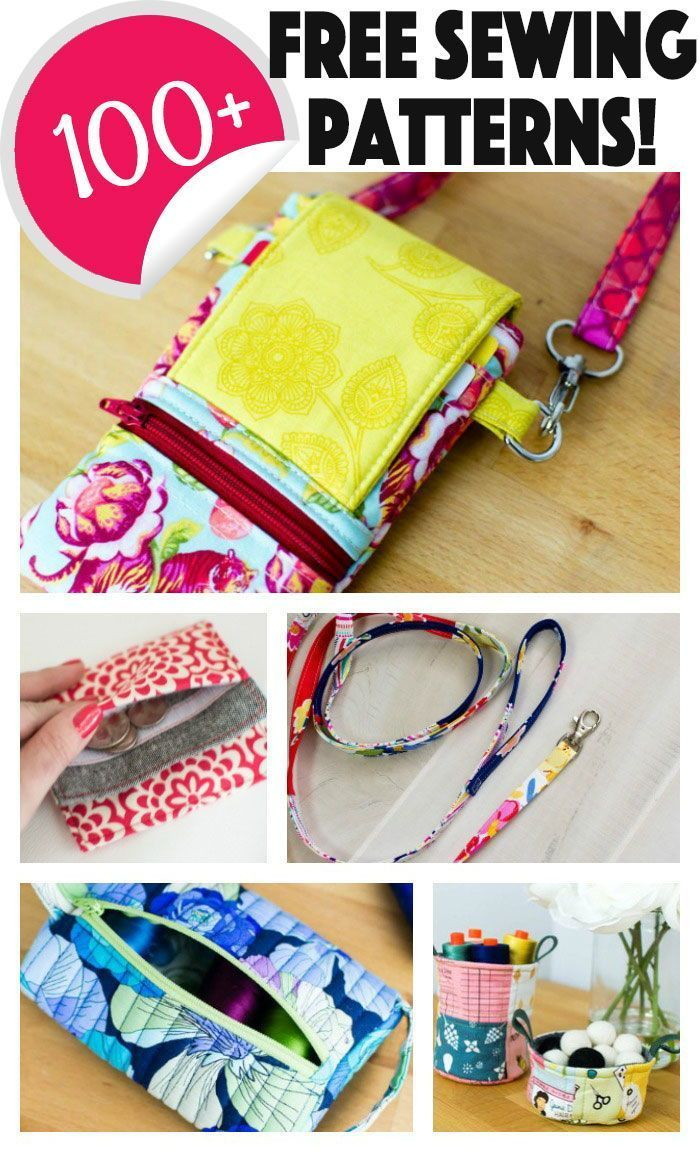 Get over 100 free sewing patterns! #bagsewingpatterns