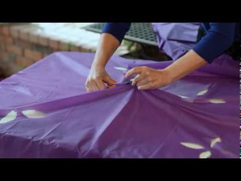 how to make a plastic table cloth
