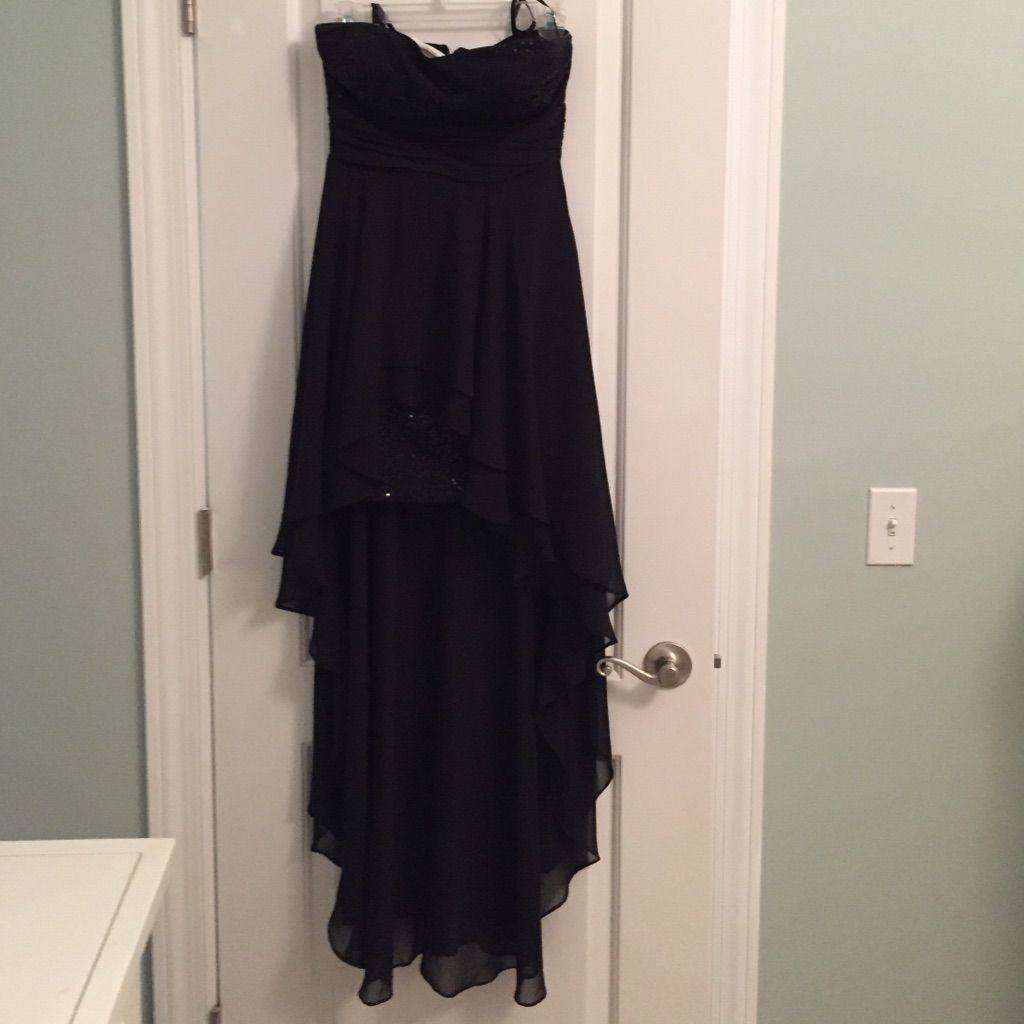Black hi lo formal dress products pinterest products