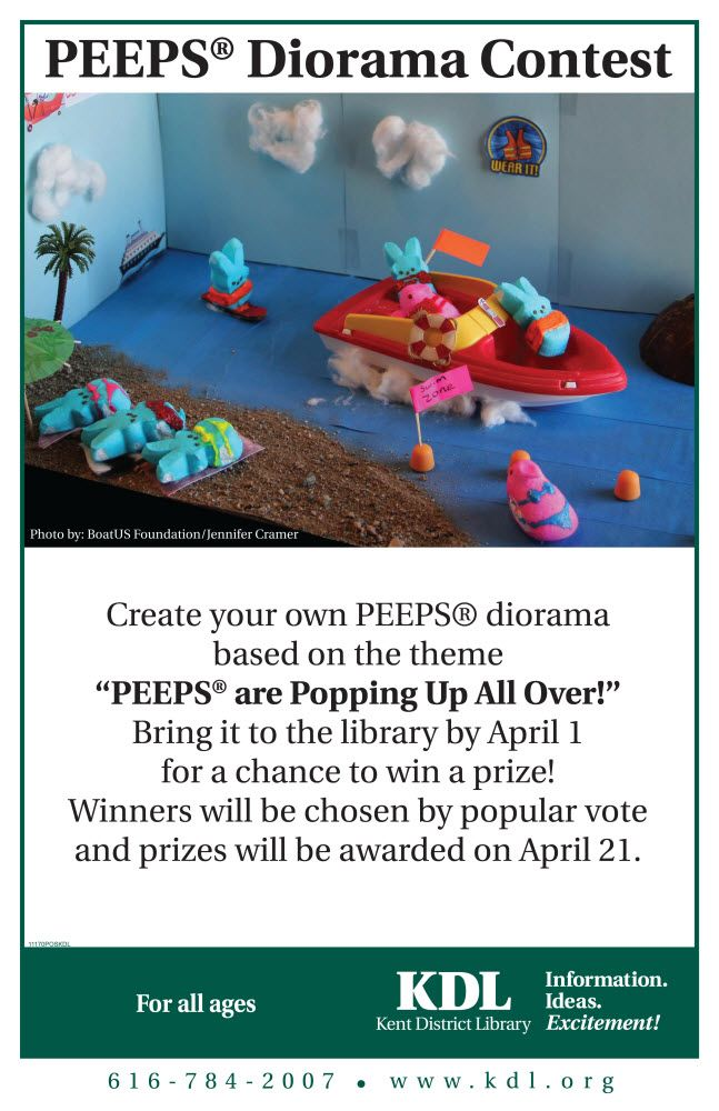 """Make Your Own Diorama: Create Your Own PEEPS Diorama Based On The Theme """"PEEPS"""