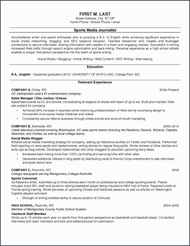 nicejob resume samples for college students good examples