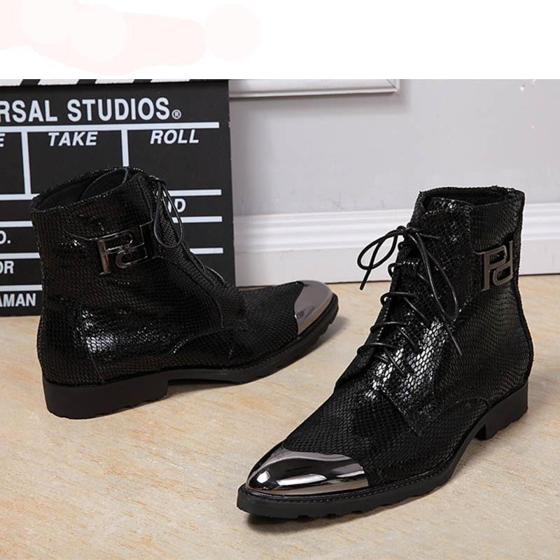 0d9cfdb1bca Batzuzhi Luxury italian western black military boots leather high ...
