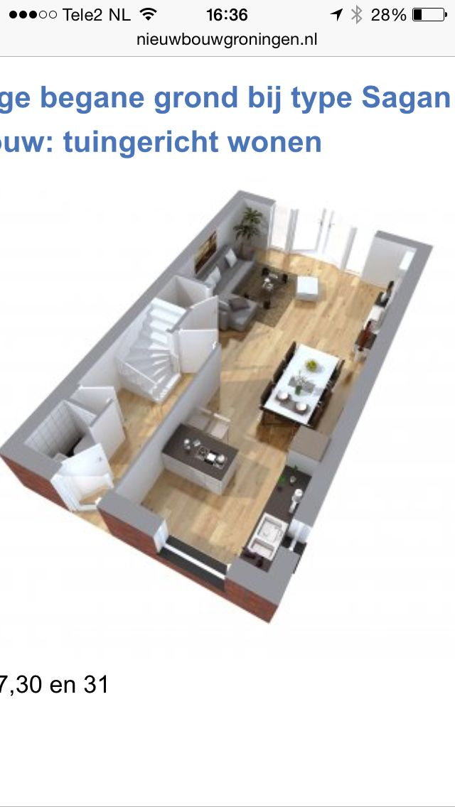 plattegrond huis inrichting inspiratie pinterest huiskamer