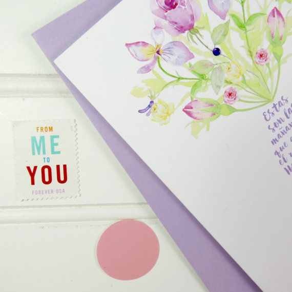 Spanish Birthday Card For Nanny Mother Mom By PlayaPaper