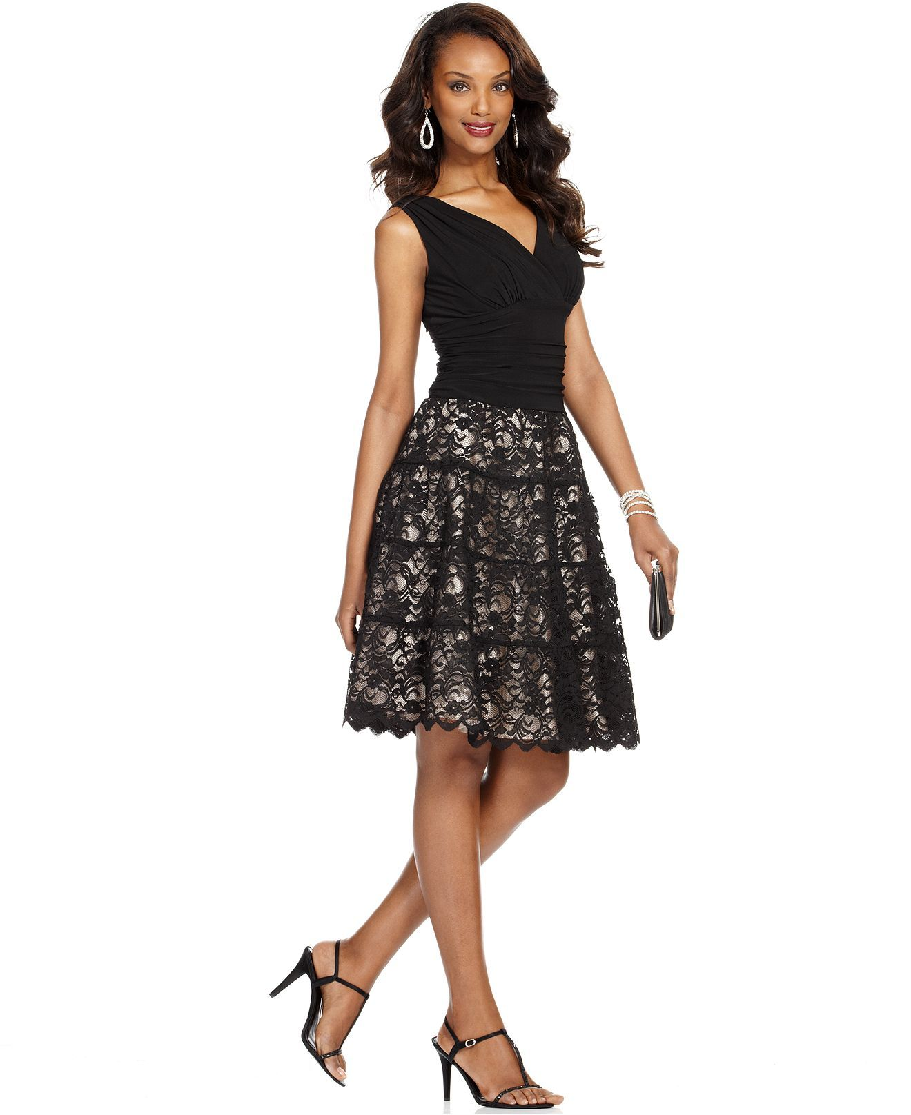 SL Fashions Lace Ruched A-Line Dress | Petite dresses, Classy and ...