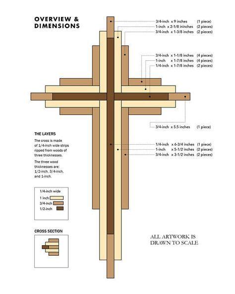 Photo of DIY 9-inch Wooden Cross Plans