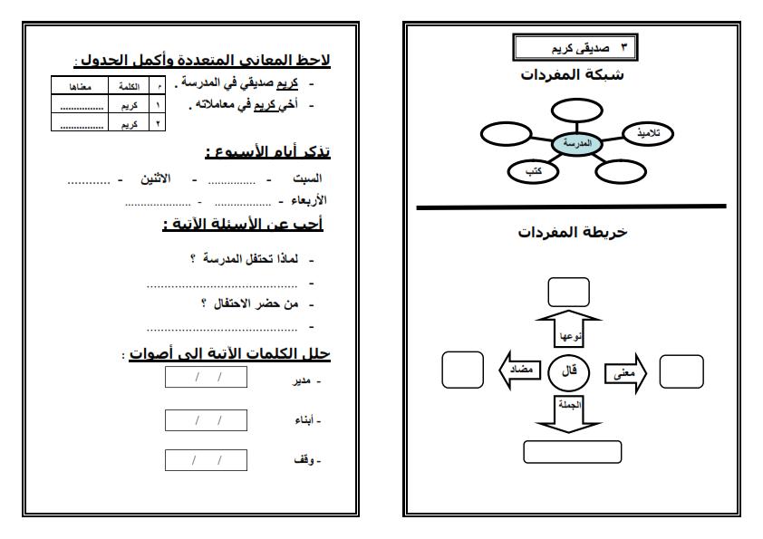 اوراق عمل لتطبق استراتيجيات القرائية على دروس لغة عربية الصف الثاني الابتدائي الترم الثاني Teach Arabic Arabic Lessons Arabic Quotes