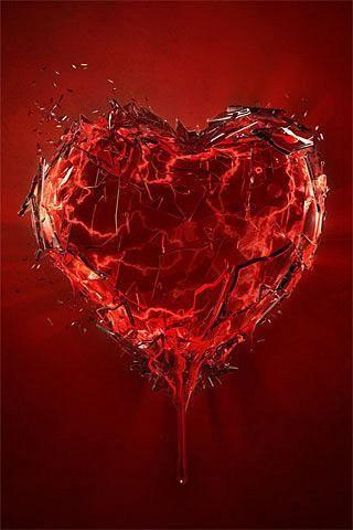 broken heart iPhone Wallpaper ♥♥♥♥ ❤ ❥❤ ❥❤ ❥♥♥♥♥