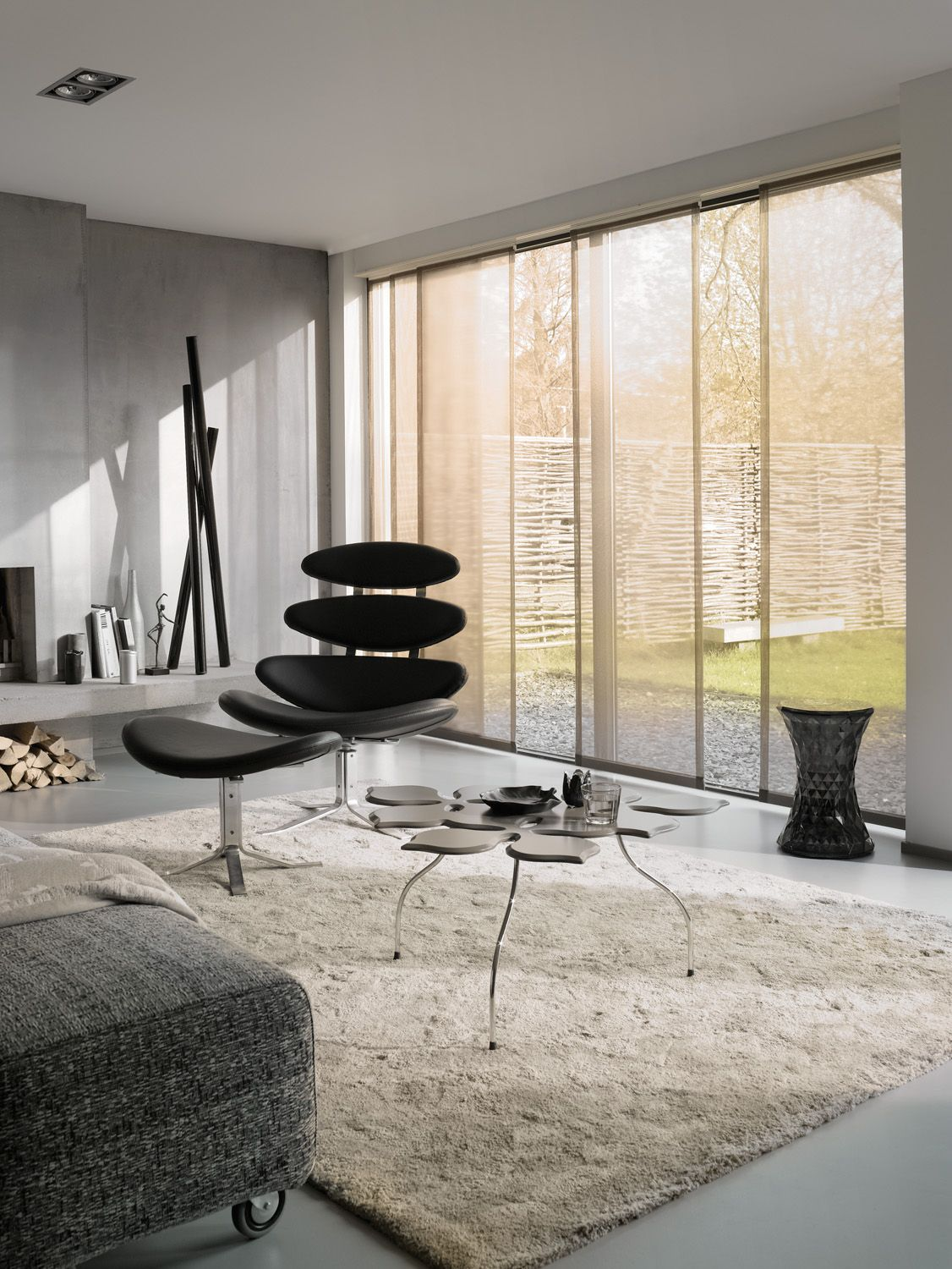 flächenvorhang #leha #wohnzimmer pinned by www.wagner-fenster.at ...