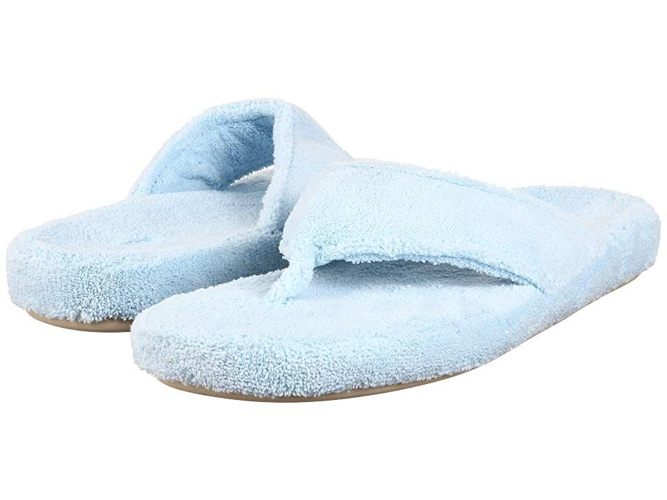e54bba5d7127 Acorn New Spa Thong (Powder Blue Fabric) Women s Slippers. Indulge your  feet with