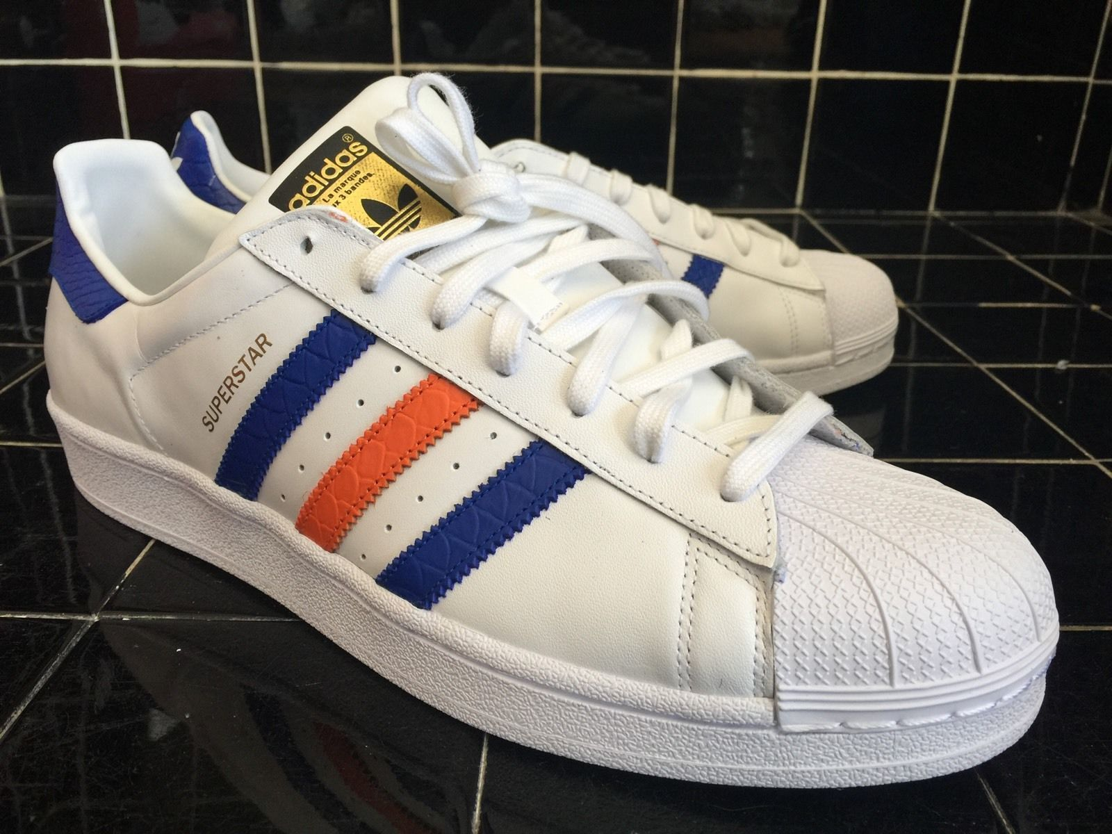 Adidas Superstar East River Rivale Weiß, Blau, Orange B34310