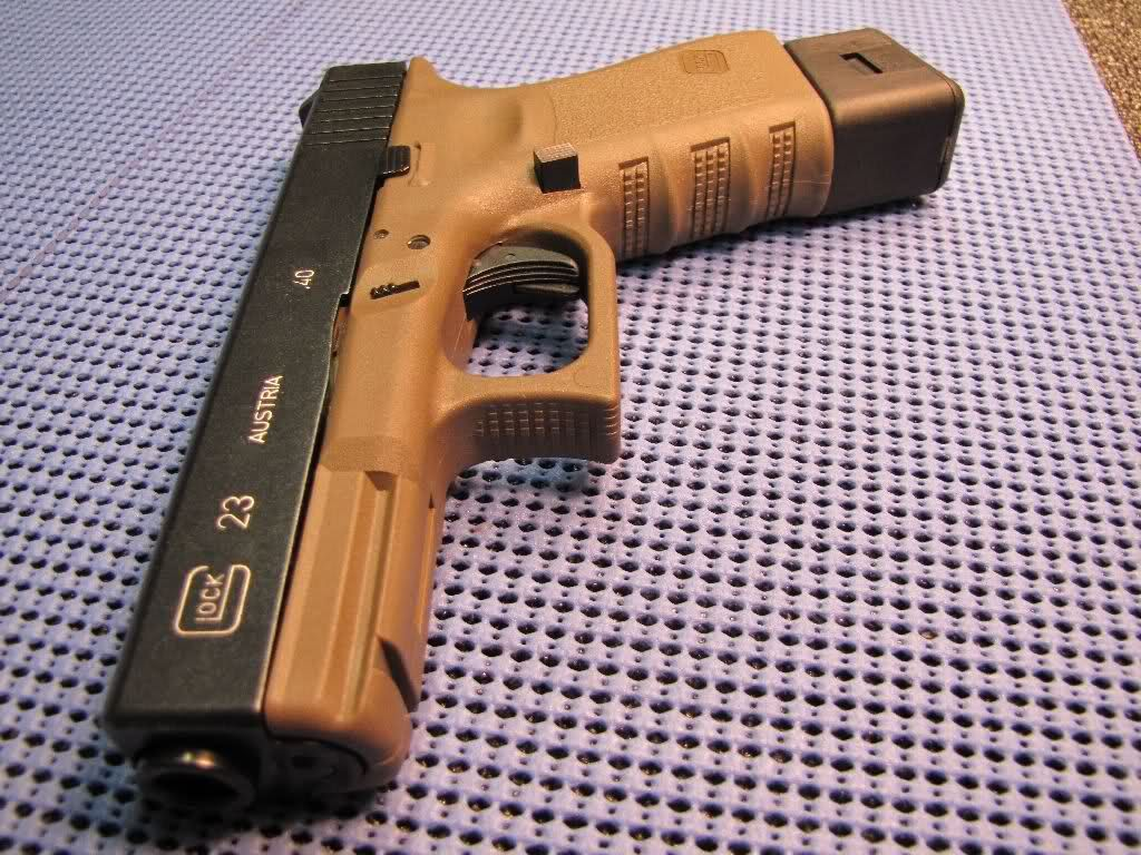 Glock 23 with mag extender   Glock   Pinterest   Armas