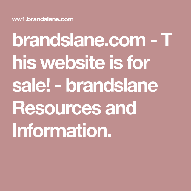 brandslane.com-This website is for sale!-brandslane Resources and Information.