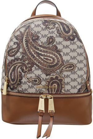 5a9ff3653853 Michael Michael Kors Studio Rhea Medium Zip Paisley Backpack (850 TND) ❤  liked on