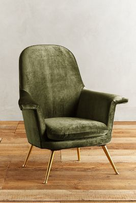 Slub Velvet Kimball Chair