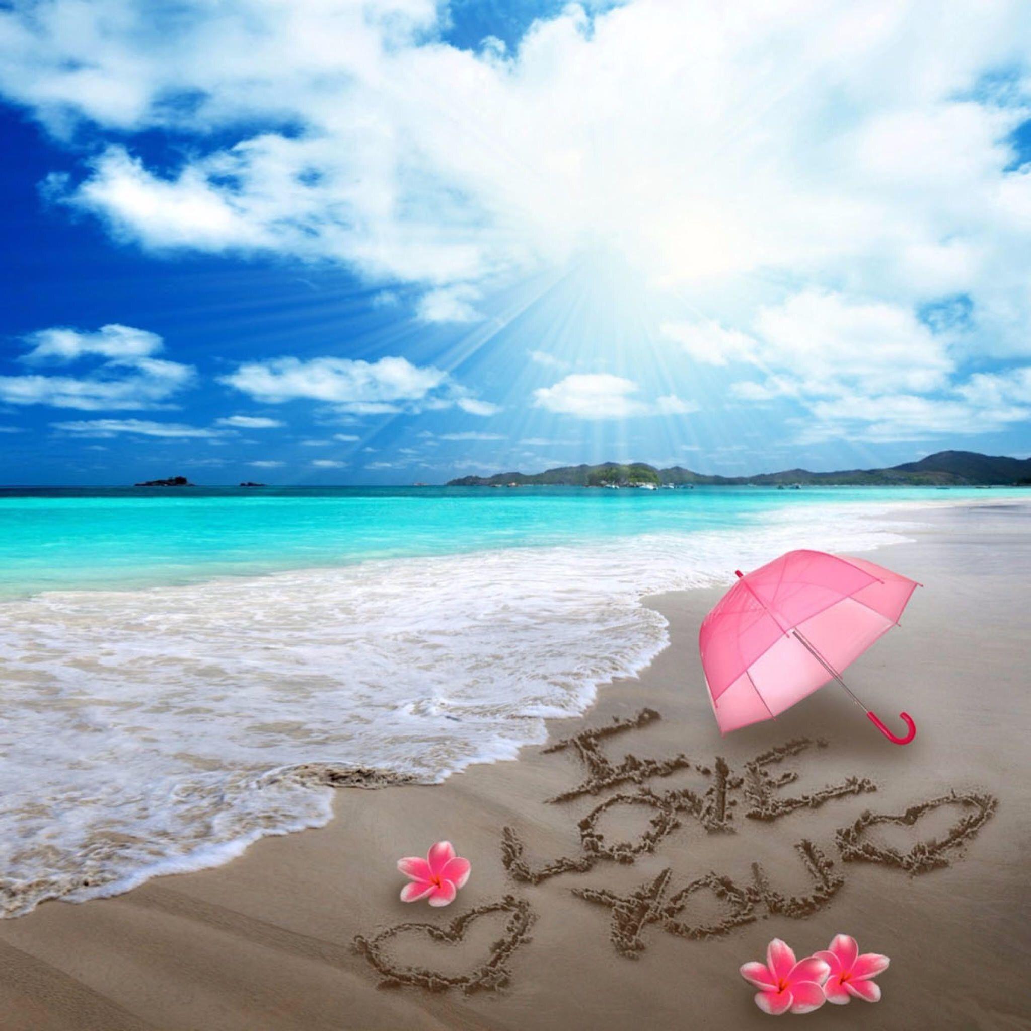 The Love Beach Summer Wallpaper Beach Wallpaper Wallpaper