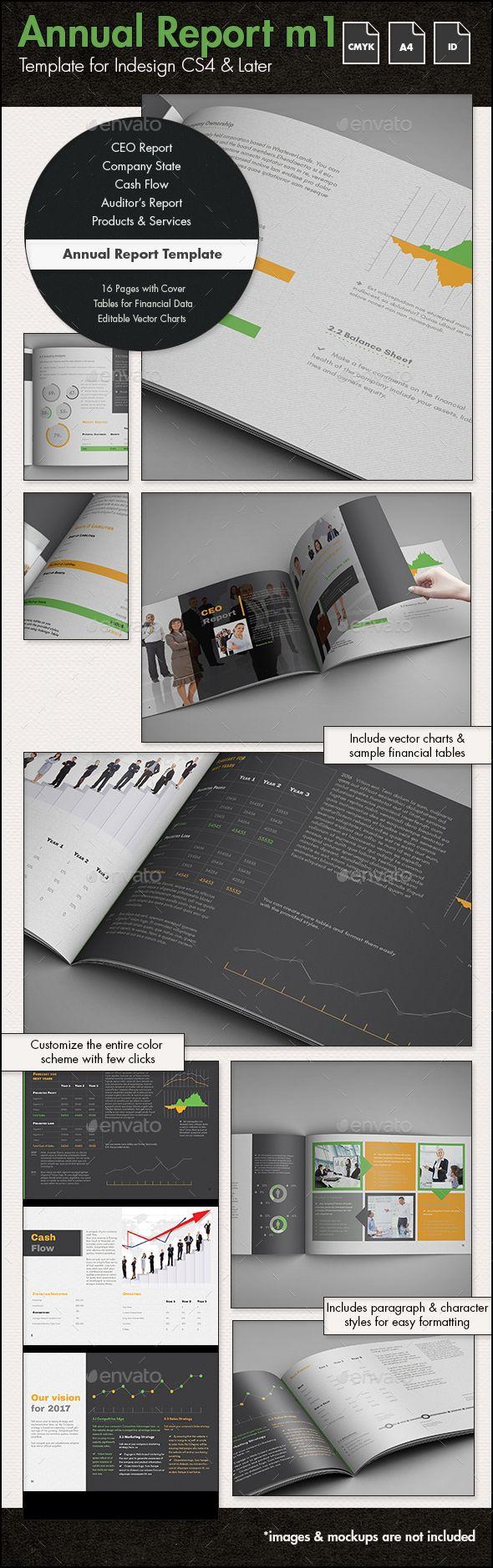 Annual Report Template M  A Landscape  Annual Reports