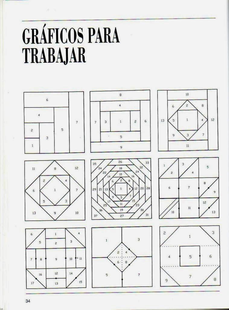 Curso de Patchwork | patchwork | Pinterest | Tutoriales, Bloques y ...