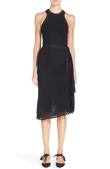 Proenza schouler black mesh dress