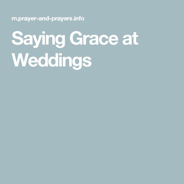 Wedding Meal Prayer, Wedding