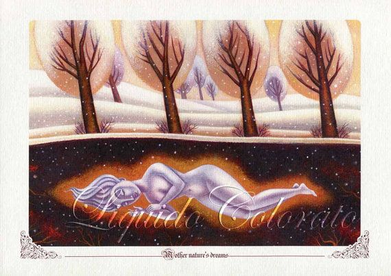 Art Print  Mother Nature's Dream   From an by LiquidoColorato