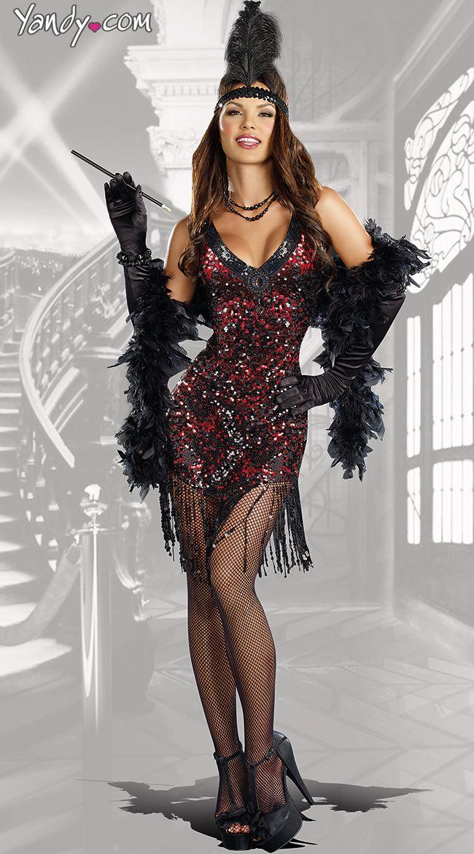 Dames Like Us Costume  sc 1 st  Pinterest & Dames Like Us Costume | Costumes Flappers and Red flapper dress