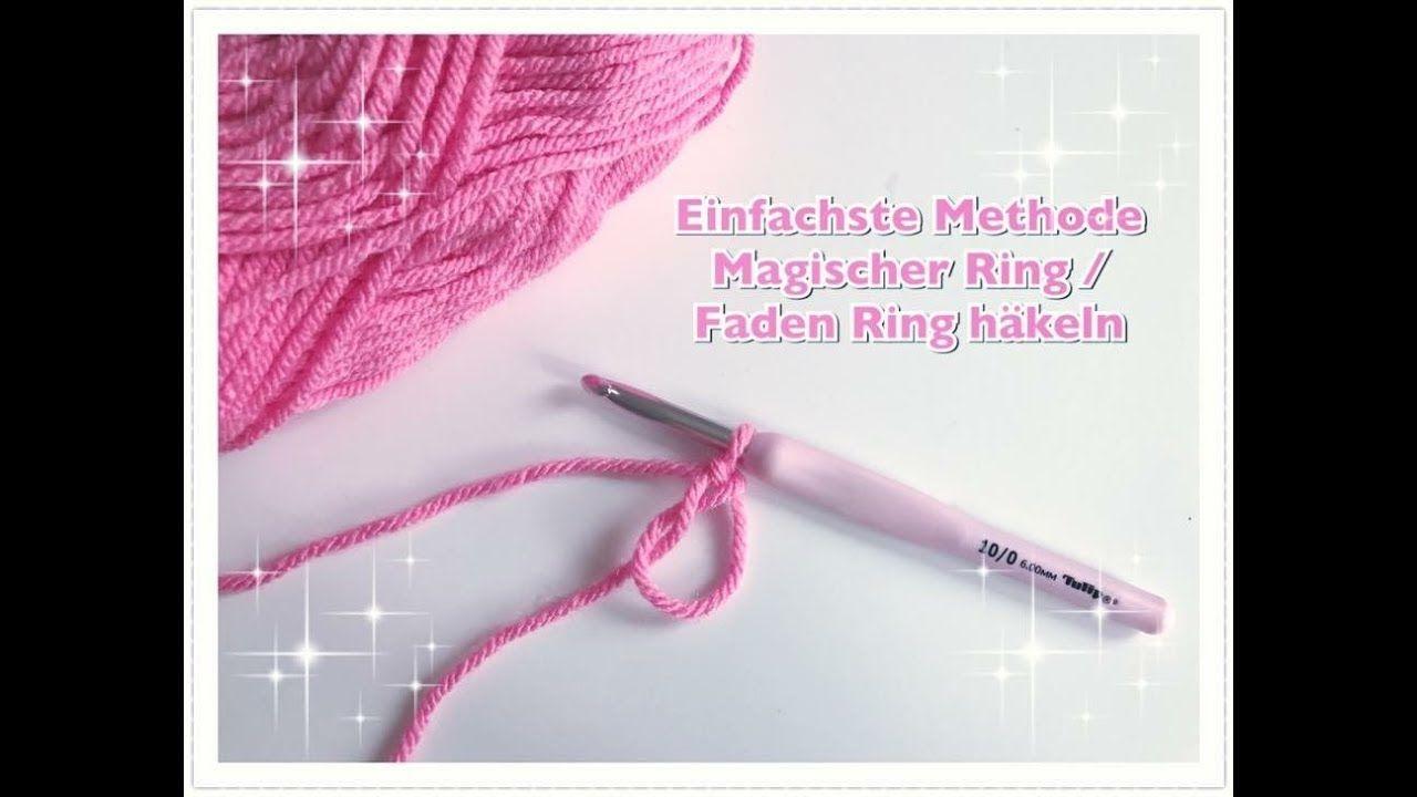 Einfachste Methode Magischen Ring Zu Hakeln Faden Ring Hakeln