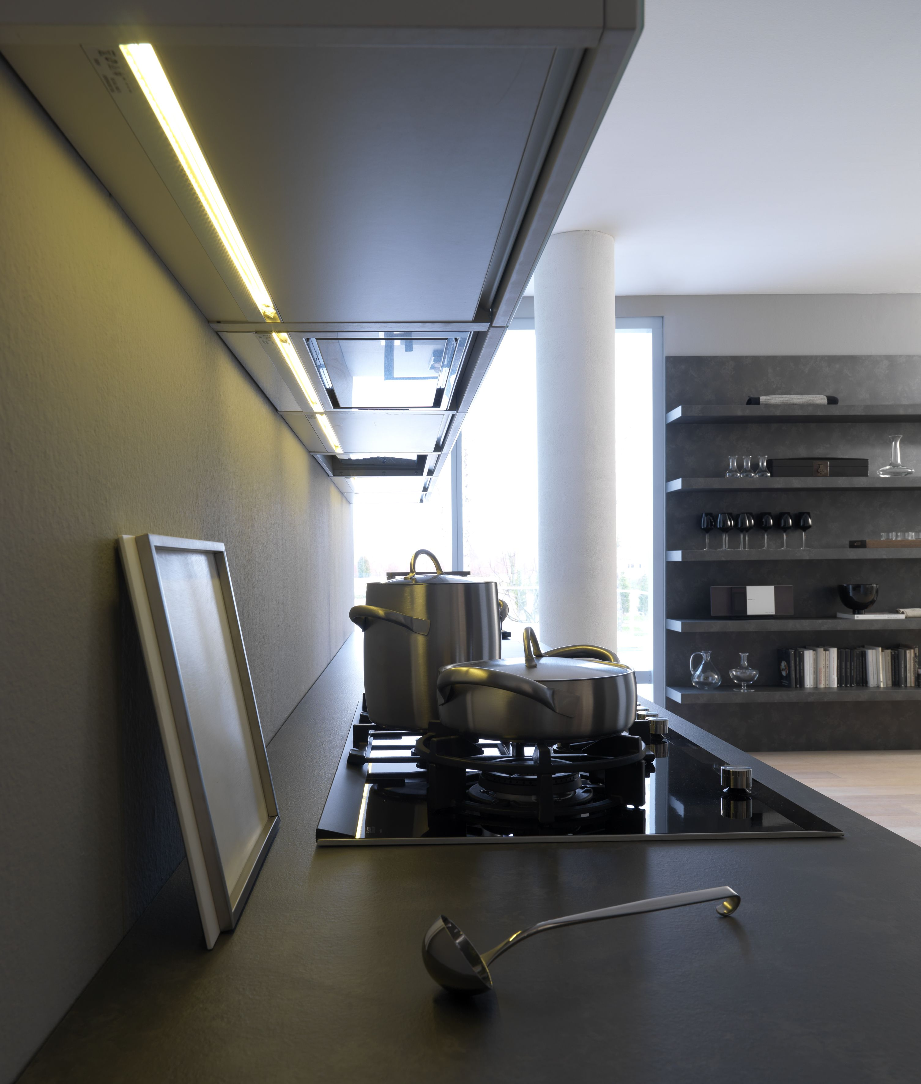 Industrial Light And Magic Render Farm: Modulnova CONCEPT Line Kitchen. Look Up: An Integrated