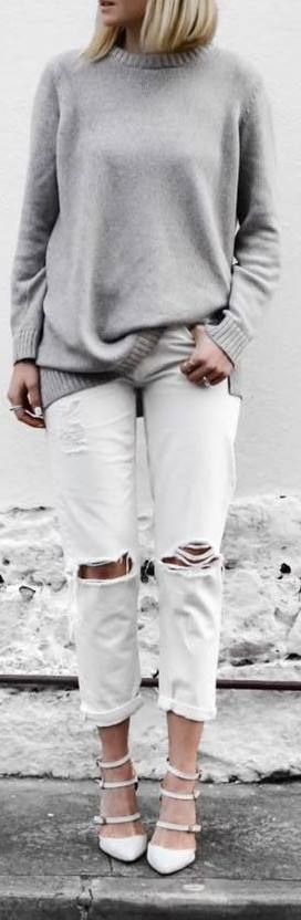 cute outfit idea: white rips