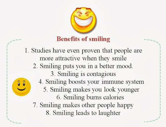 Image result for benefits of smiling