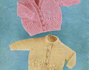 96ad59222 Baby aran jacket hat mitts Knitting Pattern pdf baby by Hobohooks ...