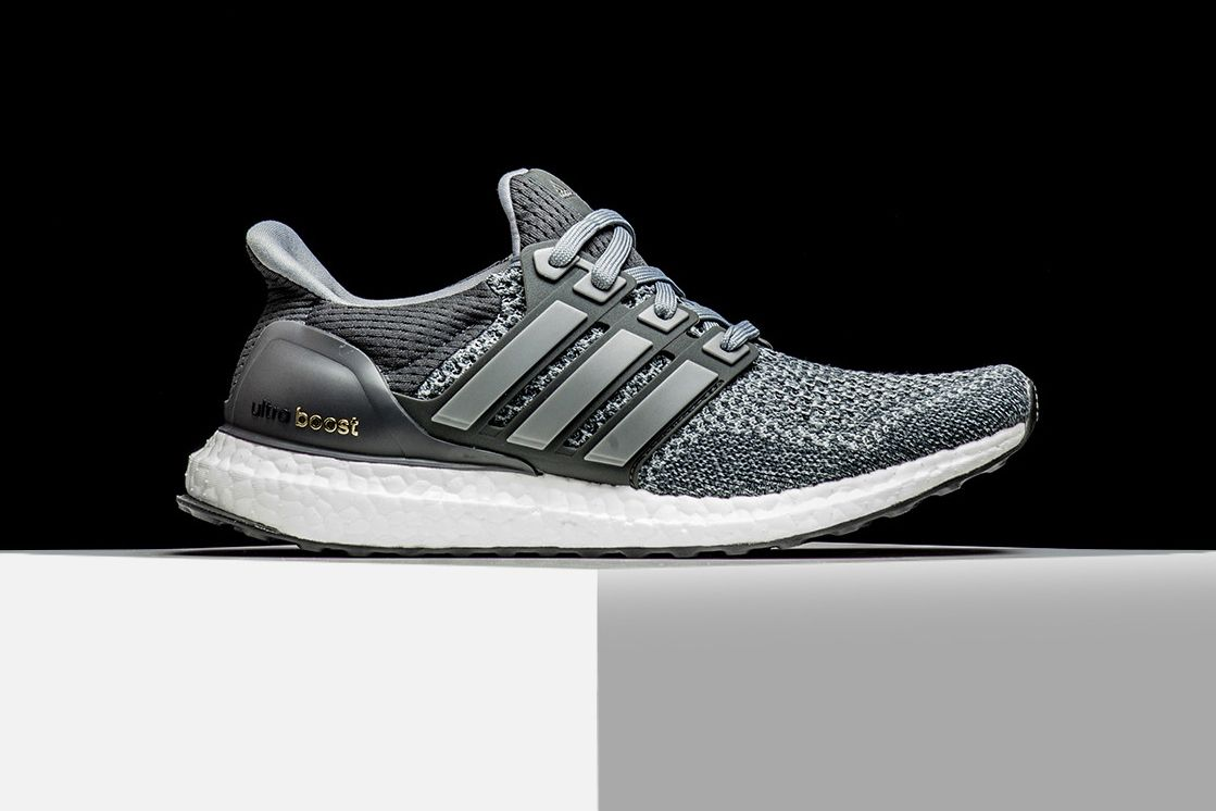 Adidas Ultra Boost Flyknit Sneaker Running Shoes Famous Womens Grey Casual Green