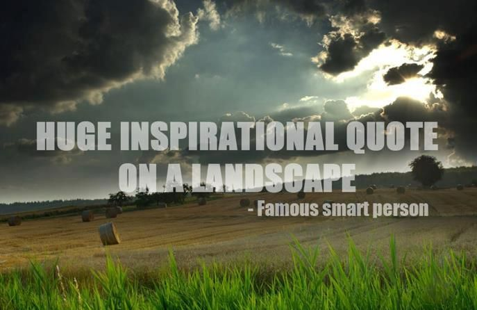 Huge inspirational quote on a landscape- Famous Smart Person ...