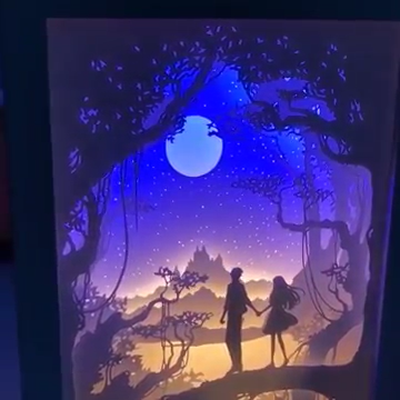 Cricut Maker Projects Discover 3d Light And Shadow Night Lamp Paper Carving Art The New Paper Carving Lamp Is Designe In 2020 Paper Carving 3d Paper Art Shadow Box Art