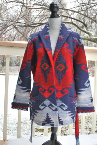 26b4e96dc Vintage Ralph Lauren Hand Knit Indian Navajo Western Sweater Cardigan