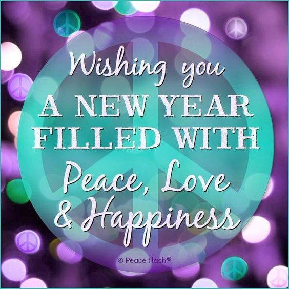 wishing you a new year filled with peace love
