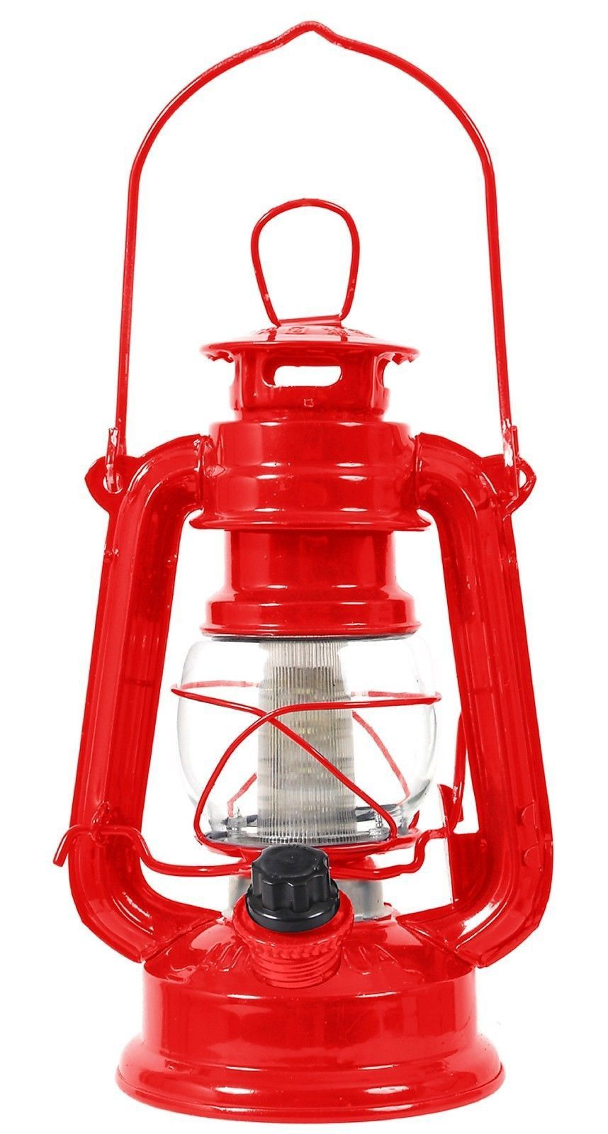 Clic Red 7 High 12 Bulb Lantern Adjule Led Battery Operated Camp Light