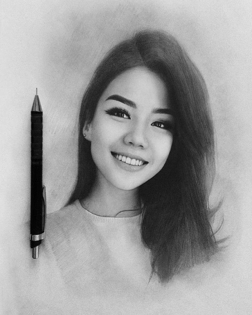 Very expressive realistic portraits best drawing