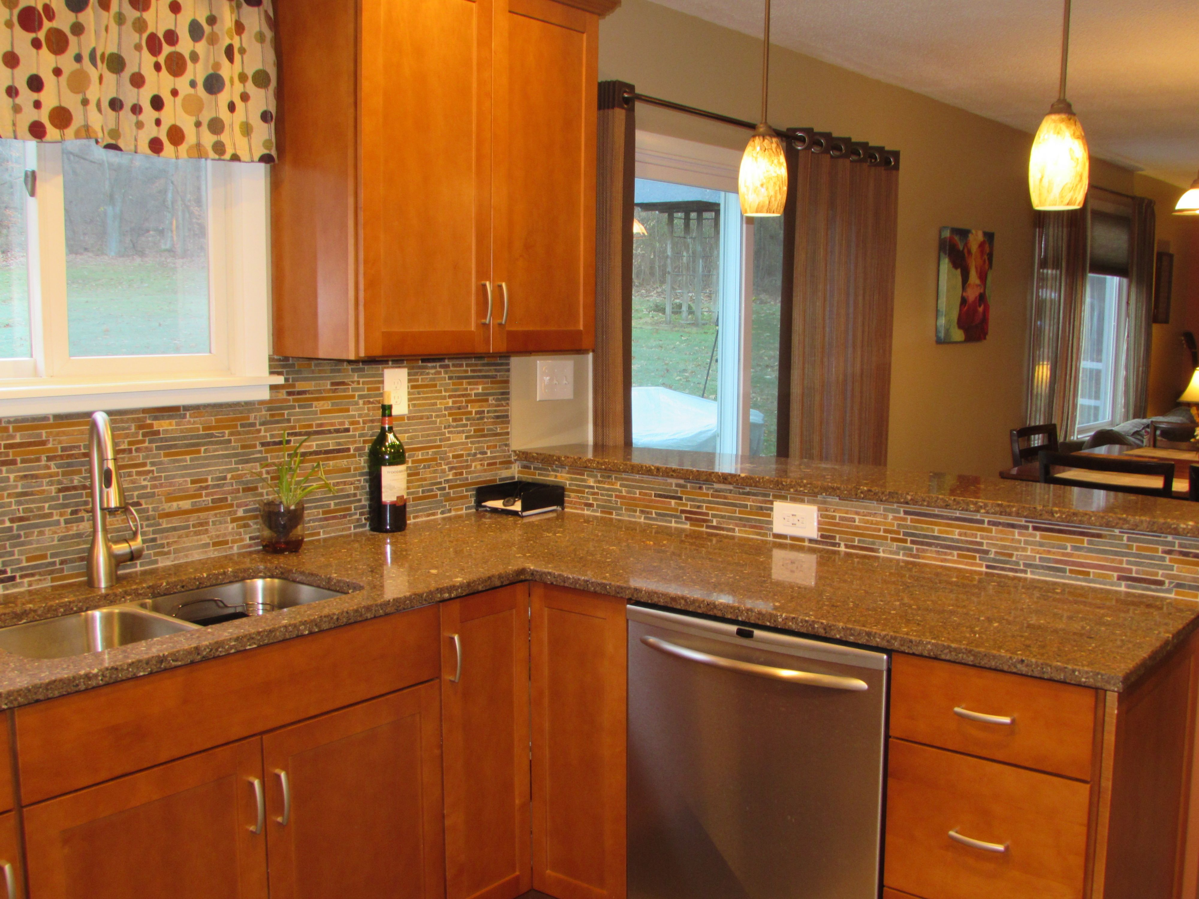 Schrock Cabinets in Maple Cattail | Our Kitchen and Living Room ...