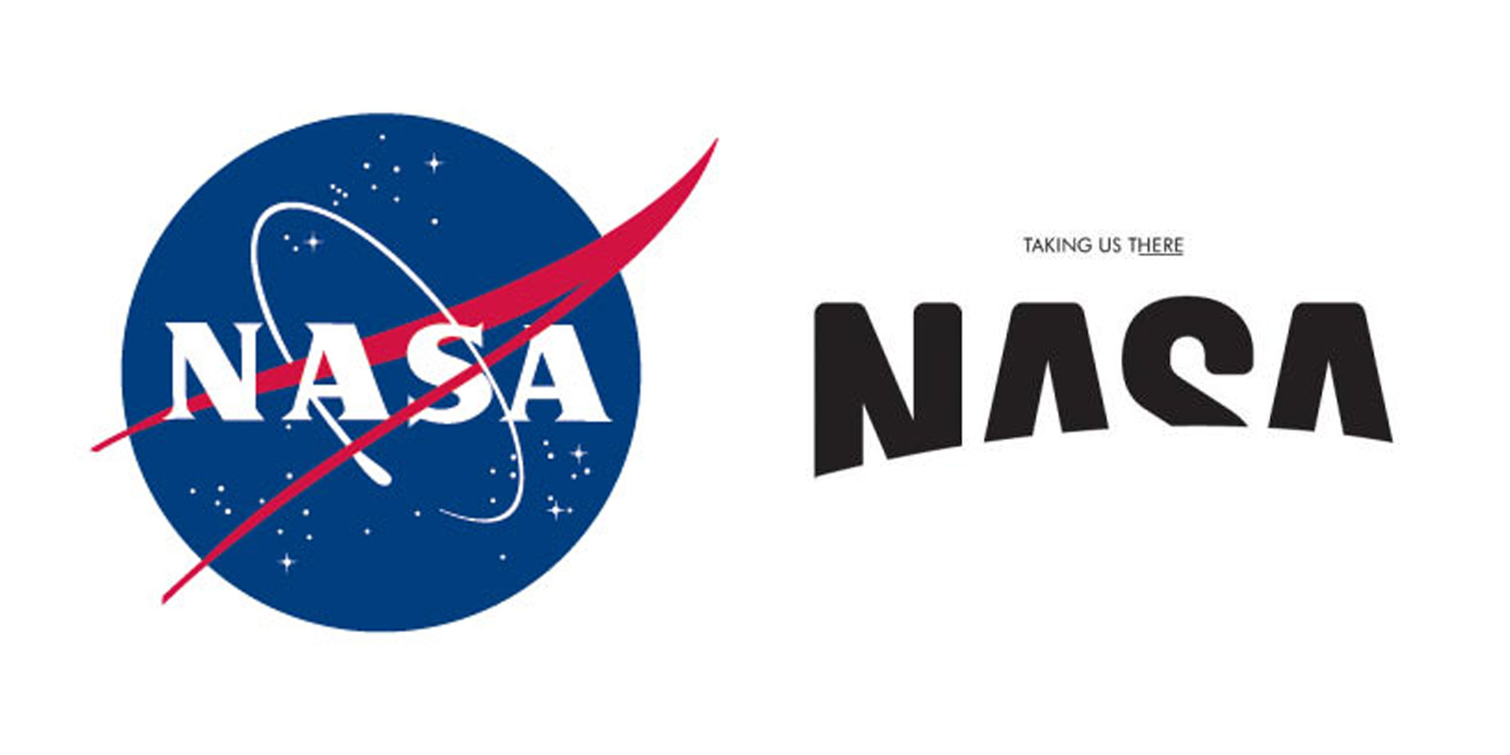 A redesign of the NASA logo done by Base Design Firm