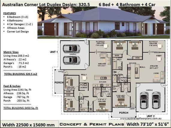 Duplex House Plans 6 Bedrooms Corner Lot duplex house plans